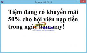 Tool thông báo & đổi hình nền cho tiệm net
